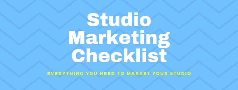 Title: Studio Marketing Checklist