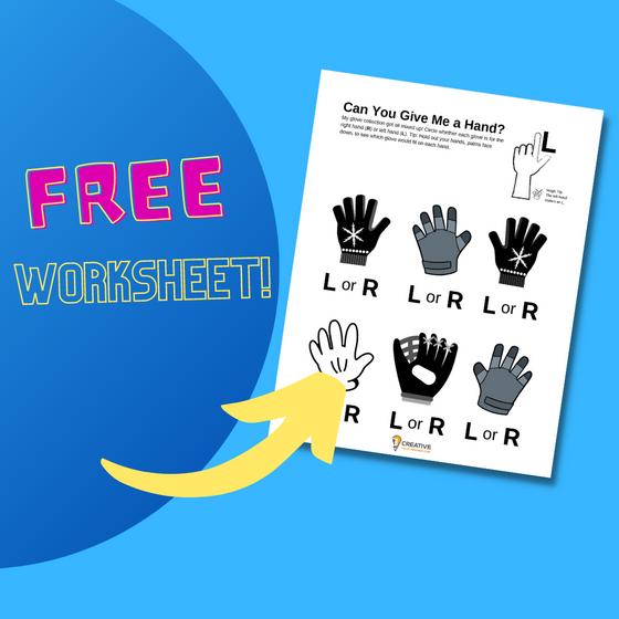 Free Worksheet!: Learning Left Hand vs. Right Hand