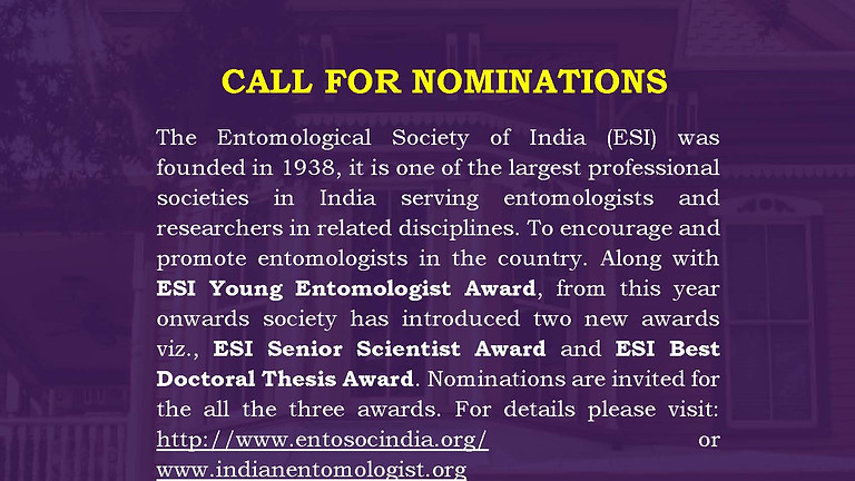 ESI AWARDS 2021: CALL FOR NOMINATIONS