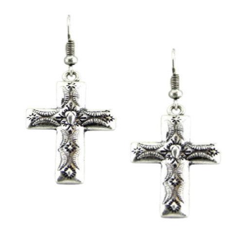 Cross Earrings Pair