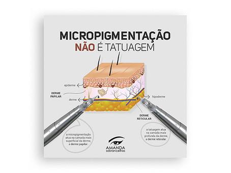 Micropigmentação não é tatuagem