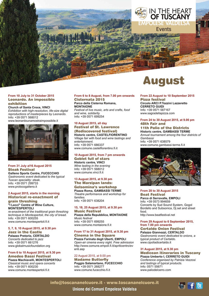 IN THE HEART OF TUSCANY - EVENTS