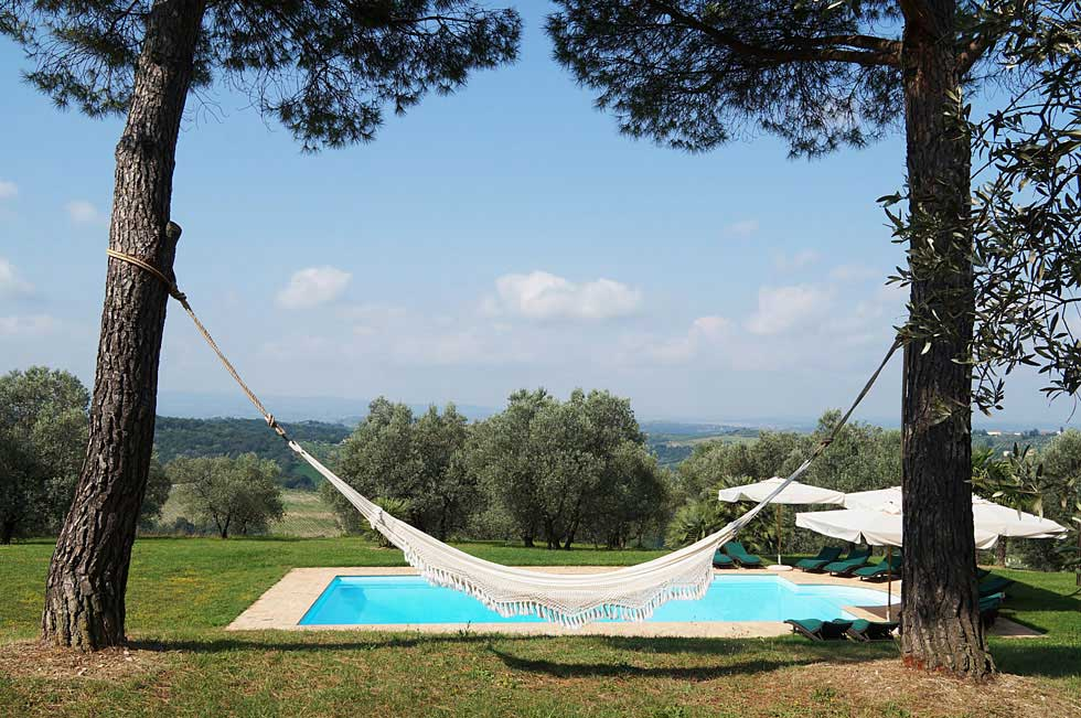 Tuscan villa rental with pool