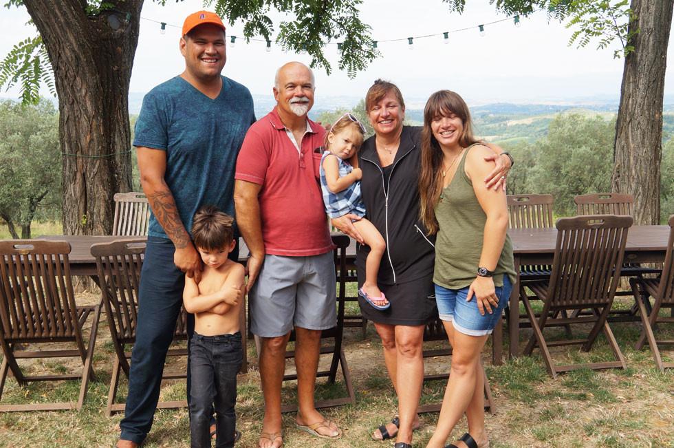 Cynthia Traino's family and friends at Villa Tuscany