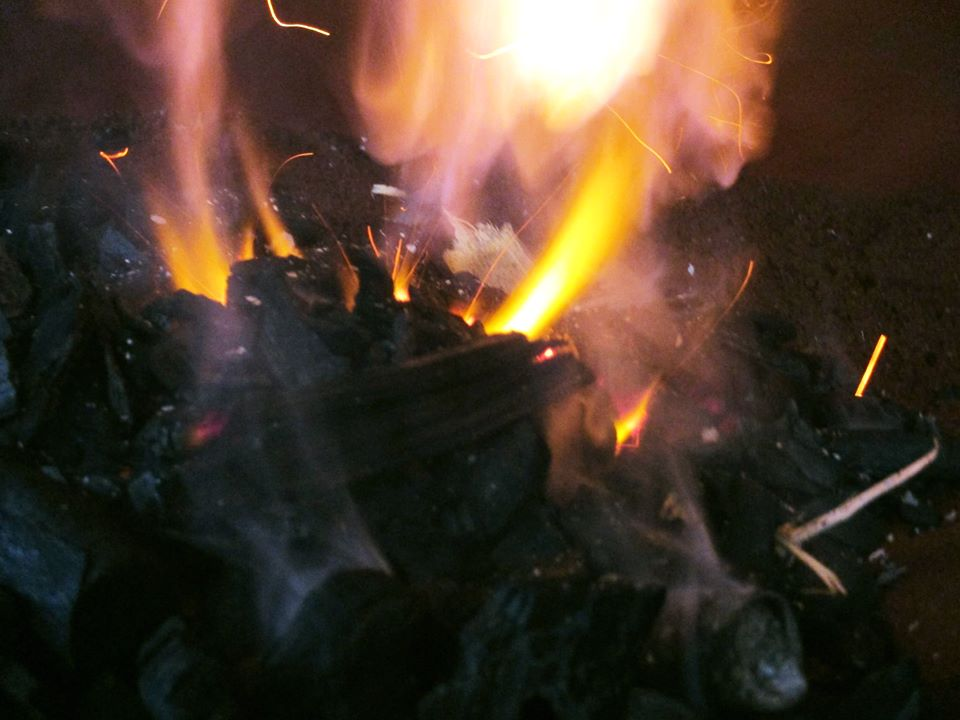 First fire in the new forge