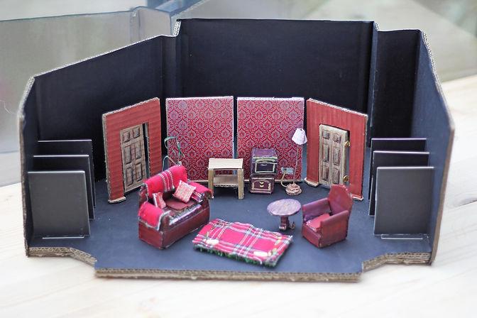 Jack Lowerson, Jack Lowerson design, Jack Lowerson theatre design, Jac Lowerson model box, JDLowerson, JDLowersn design, Say it Again...Sorry? Jack Lowerson props, Jack Lowrson set design