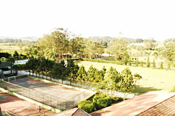 Quadras e campo de futebol