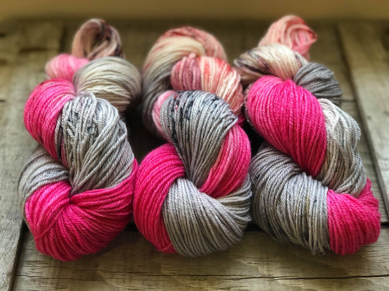 Sweet Sassy Molassy ~ Grey, Pink w/ Black & Red Speckles