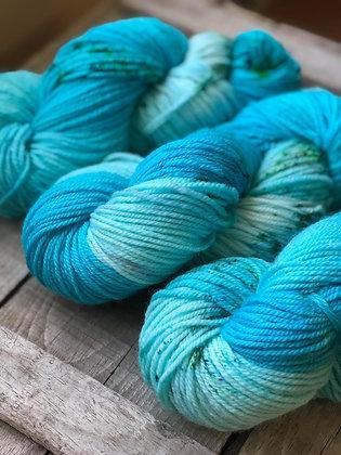 Aquas Awaiting Adventures ~ Turquoise, Light Blue w/ Speckles