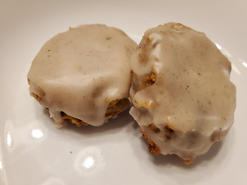 Pumpkin Spice Iced Pumpkin Raisin Walnut Muffin Tops