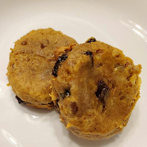 Pumpkin Raisin Walnut Muffin Tops
