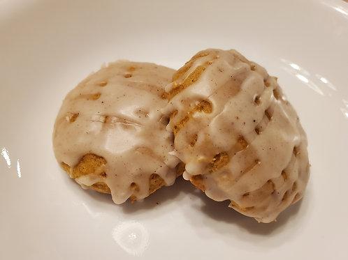 Pumpkin Muffin Tops with Pumpkin Spice Drizzle