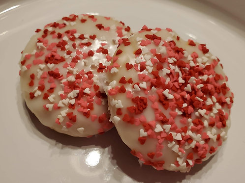 GF Valentine's Iced Sugar Cookies