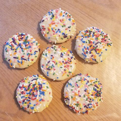 Birthday Cake Iced Sugar Cookie