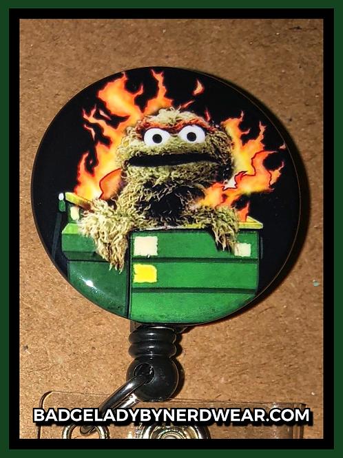 Dumpster Fire Oscar the Grouch
