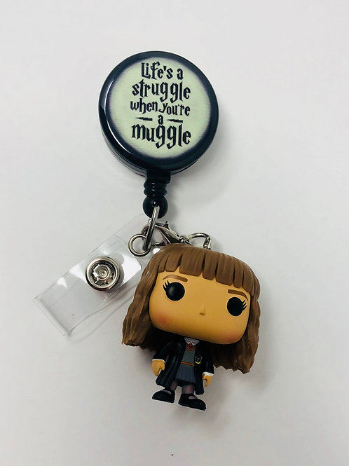 Hermione Badge Holder with Keychain