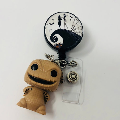 Jack and Sally with Funko Pop Oogie Boogie