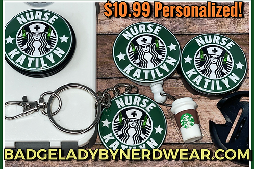 Personalized Starbucks Nurse (WRITE NAME IN ORDER COMMENTS)