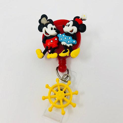 Old School Mickey&Minnie - Boat Wheel