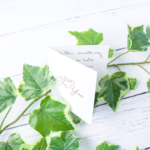Personalised Gift Message Card