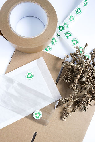 A selection of recyclable packaging materials