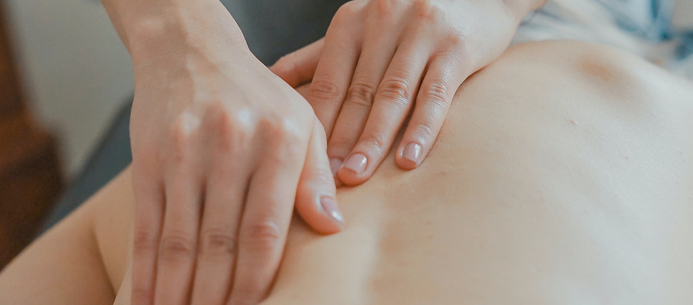 An aromatherapy back massage.