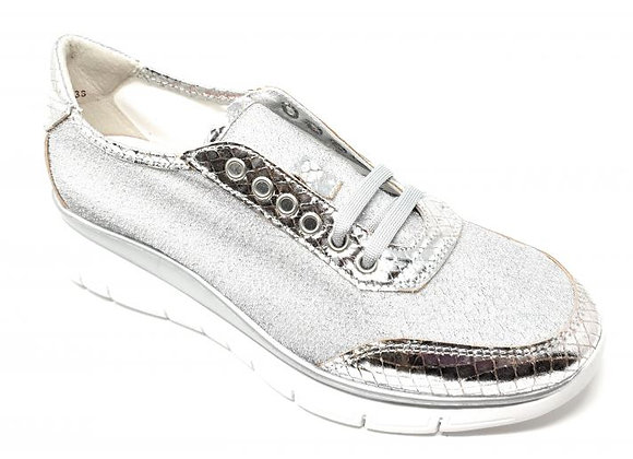 SNEAKER DONNA FRAU 42Z2 ARGENTO, MADE IN ITALY, EXTRALIGHT