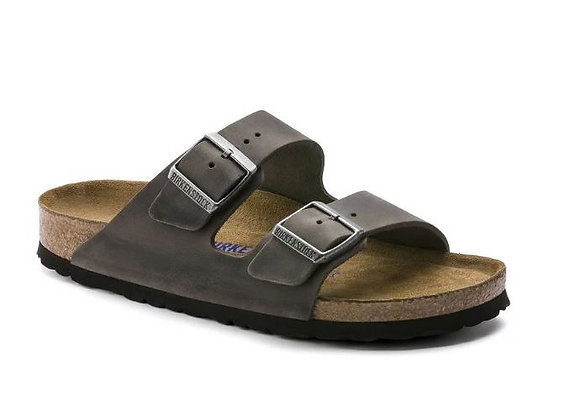 BIRKENSTOCK ARIZONA IRON 1013645 VERA PELLE, MADE IN GERMANY