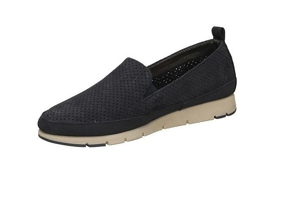 SLIP-ON FRAU 51E3 CAMOSCIO BLU, SUPERLEGGERA