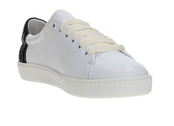 SNEAKER FRAU 41A2 PELLE BIANCA, MADE IN ITALY, PLANTARE ESTRAIBILE