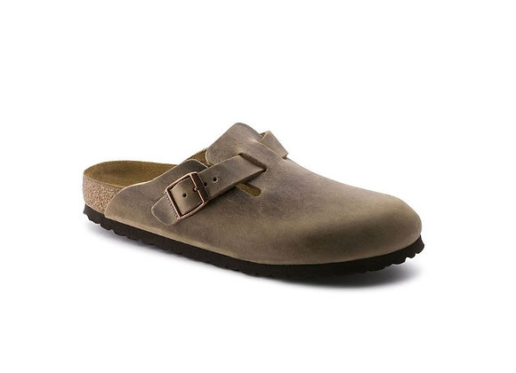 BIRKENSTOCK BOSTON TABACCO BROWN  0960813, MADE IN GERMANY