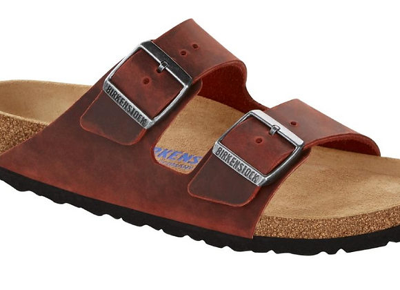 BIRKENSTOCK ARIZONA EARTH RED 1015545 VERA PELLE, MADE IN GERMANY