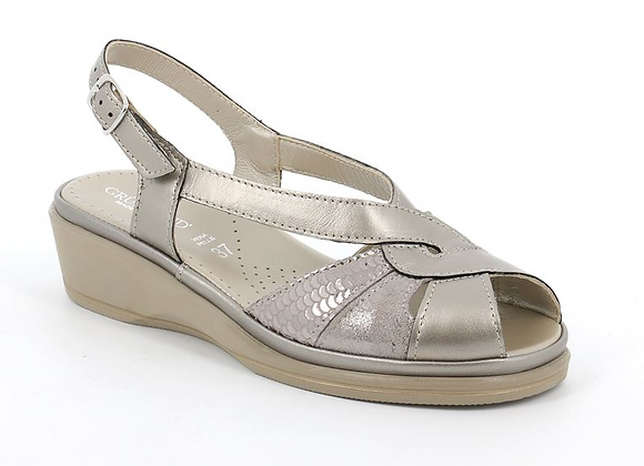 SANDALO DONNA GRUNLAND SA2528 TAUPE, MADE IN ITALY