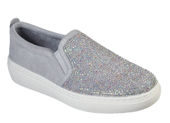 SLIP-ON DONNA SKECHERS 73728 ARGENTO