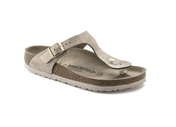 INFRADITO BIRKENSTOCK ROSE GOLD 1008793, VERA PELLE, MADE IN GERMANY