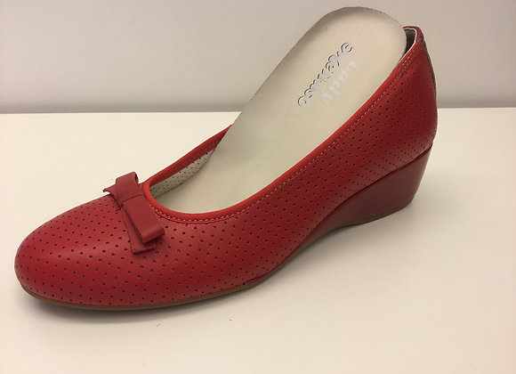 SCARPA ZEPPA MELLUSO 08133 ROSSO, MADE IN ITALY