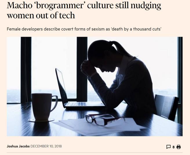 Brogrammers still exist, how depressing