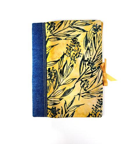 """Protège cahier ou livre A5  """" feuilles """""""