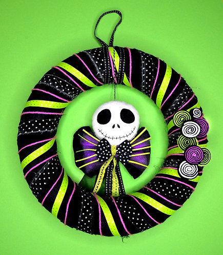Couronne de porte / Mr Jack (vert et violet)