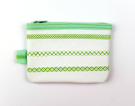 Porte-monnaie blanc/vert