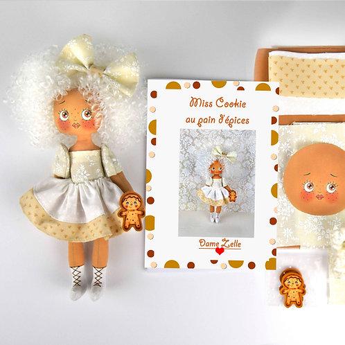 """Kit de couture """"Miss Cookie au pain d'épices"""""""