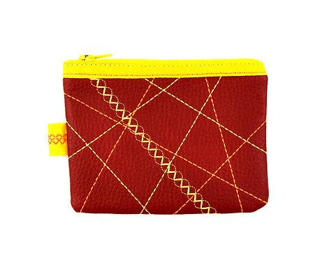Porte-monnaie rouge et jaune
