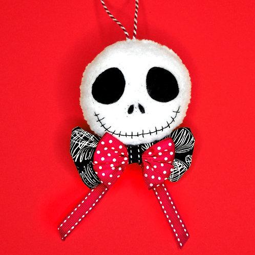 Suspension Mr Jack  (noeud rouge et noir)