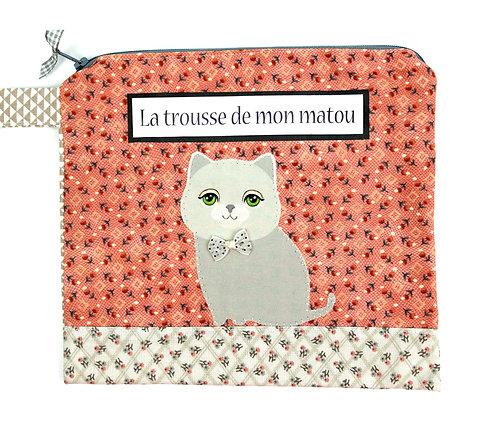"""Trousse pour chat """" noeud pap """""""