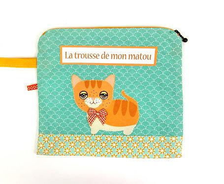"""Trousse pour chat"""" roux """""""
