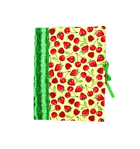 """Protège cahier ou livre A5 """"  fraise """""""