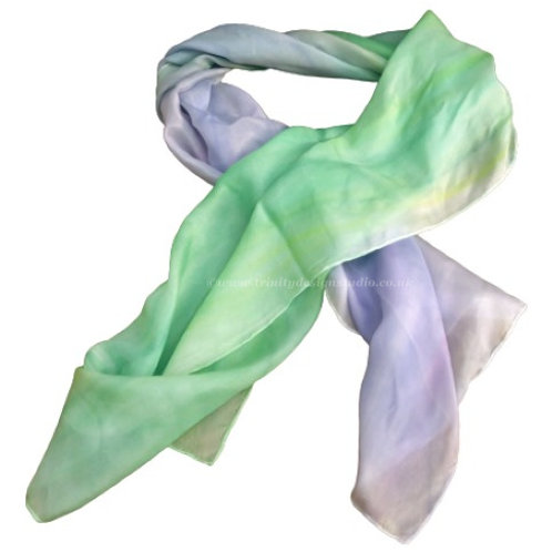 purple and green silk scarf