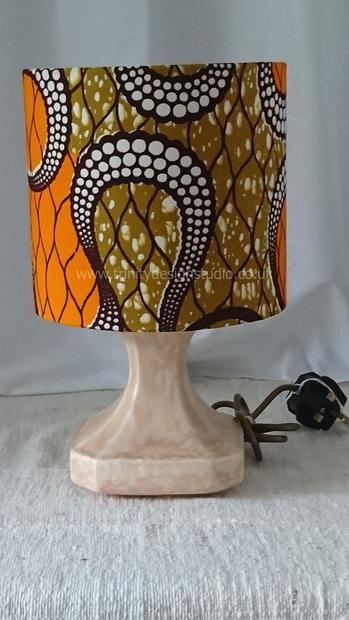 orange lampshade