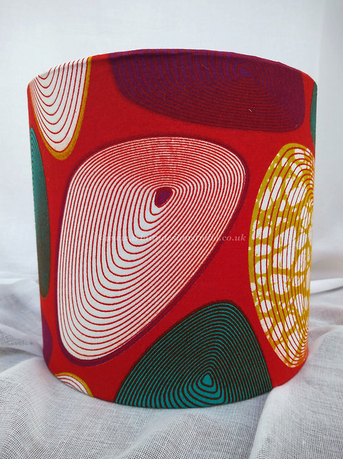 Oystershell Red Lampshade