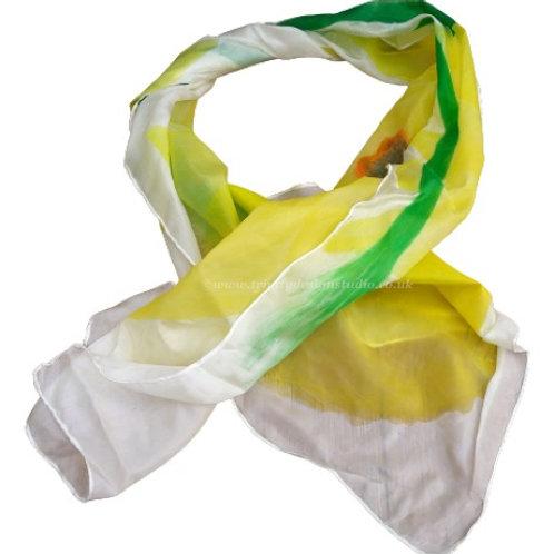Daffodil silk scarf